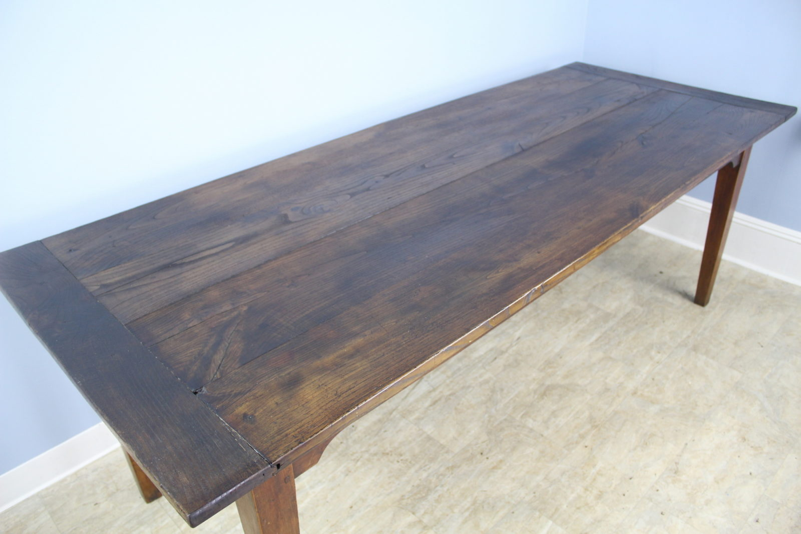 antique chestnut farm table with breadboard ends briggs house antiques