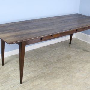 Long Antique Two-Drawer Chestnut Farm Table