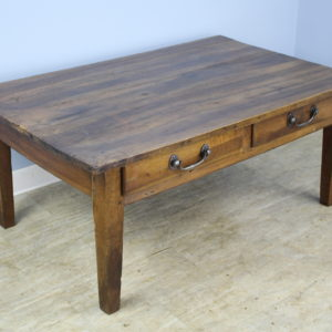 Antique Walnut Two-Drawer Coffee Table