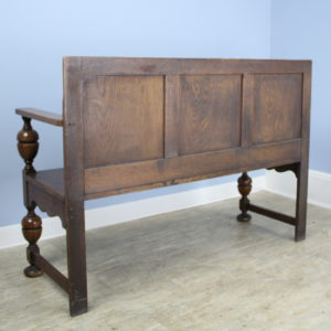 Antique Oak Bench With Medallion Briggs House Antiques
