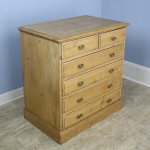 Small Antique English Pine Chest of Drawers