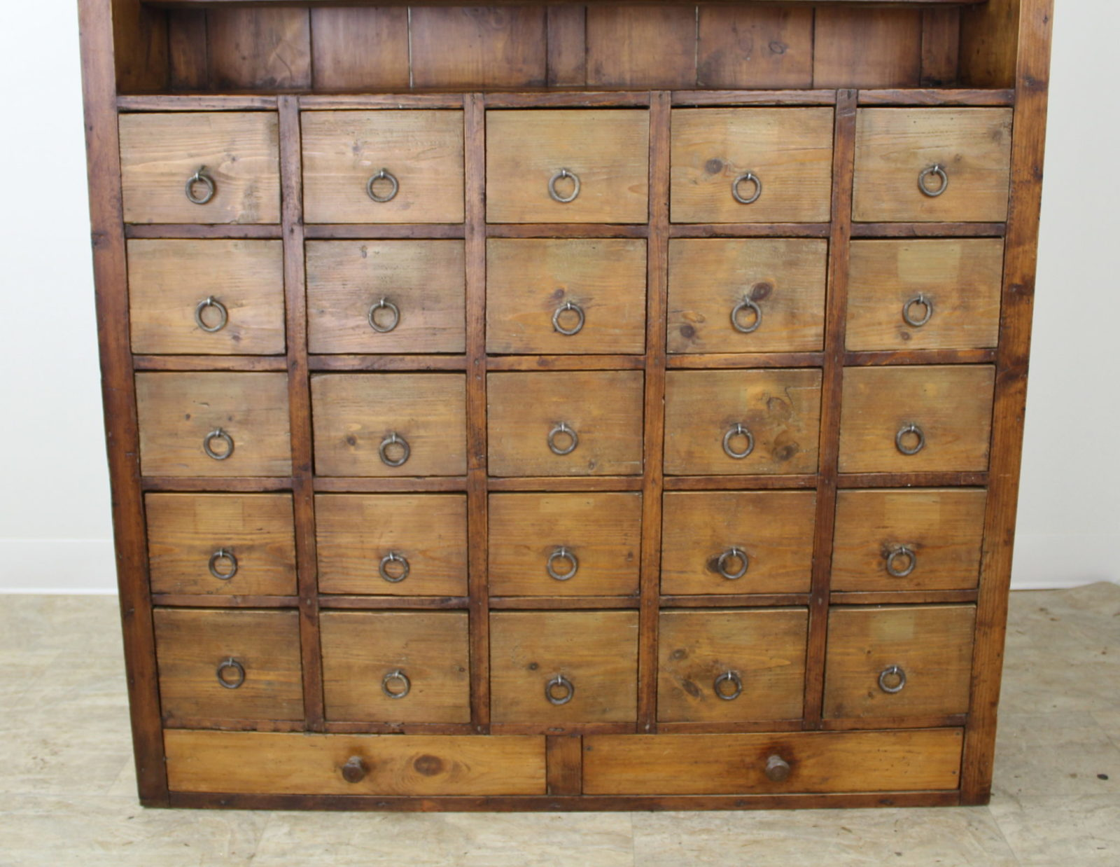 French Antique Bank Of Pine Drawers Briggs House Antiques