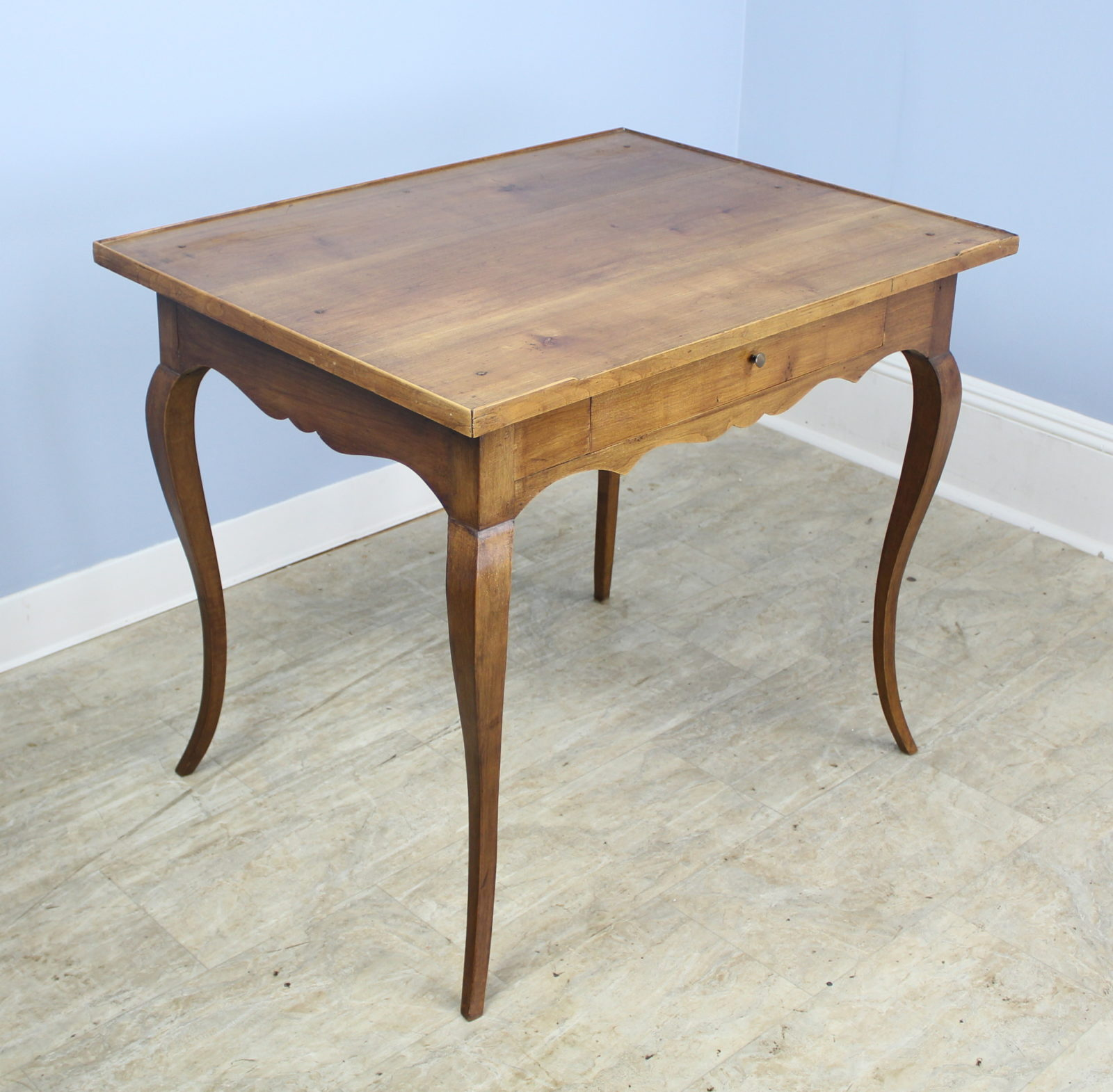 Antique Cabriole Leg Walnut Side Table Briggs House Antiques