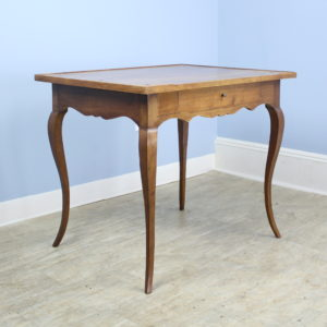 Antique Cabriole Leg Walnut Side Table