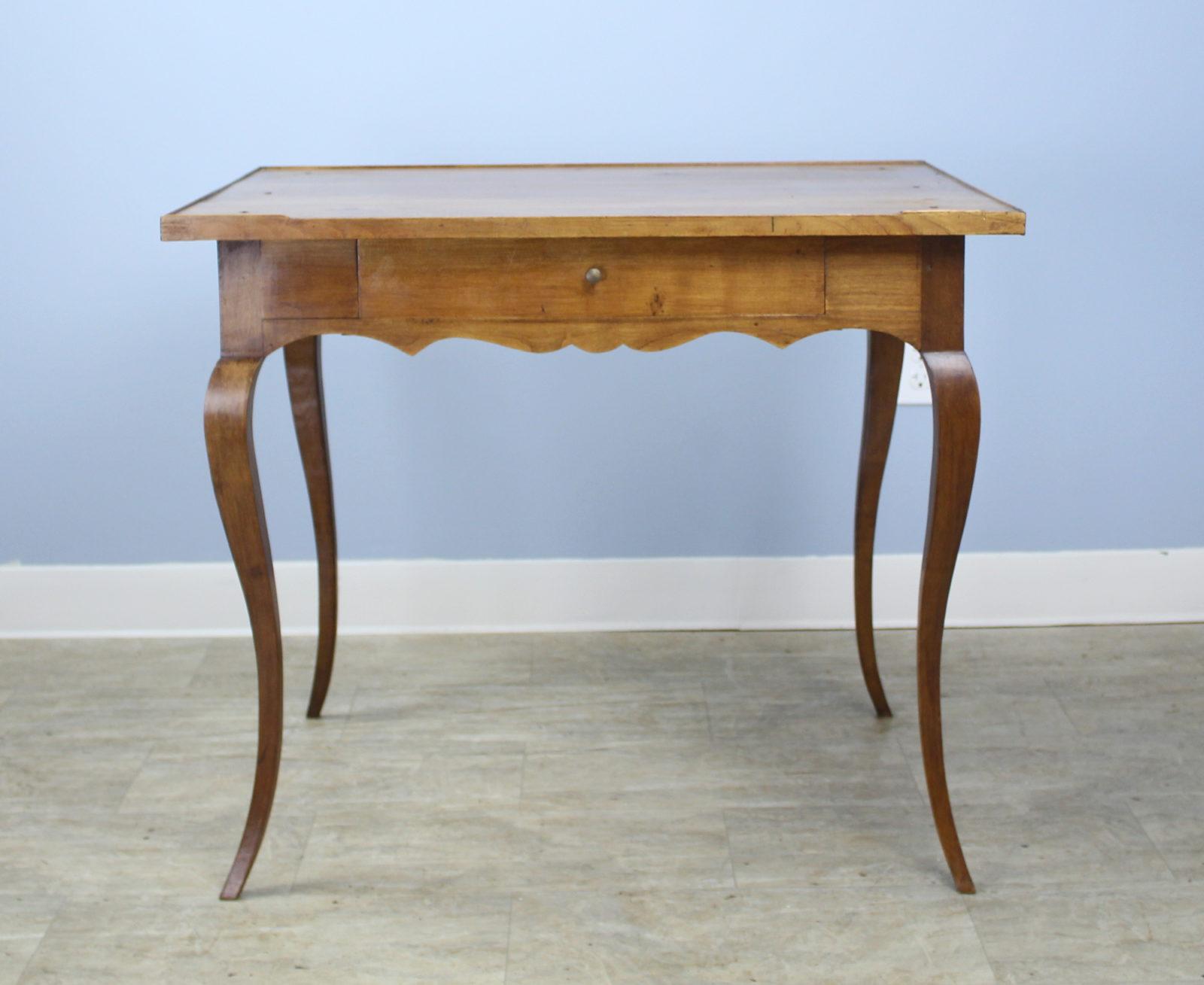 Antique Cabriole Leg Walnut Side Table Briggs House Antiques