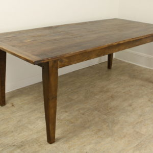 7 Foot Light Pine Farm Table with Breadboard Ends