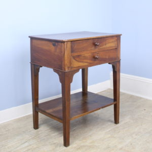 Antique Two-Drawer Walnut Side Table