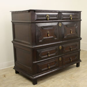 Antique English 18th Century Period Oak Chest of Drawers