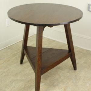 Antique Welsh Dark Pine Cricket Table