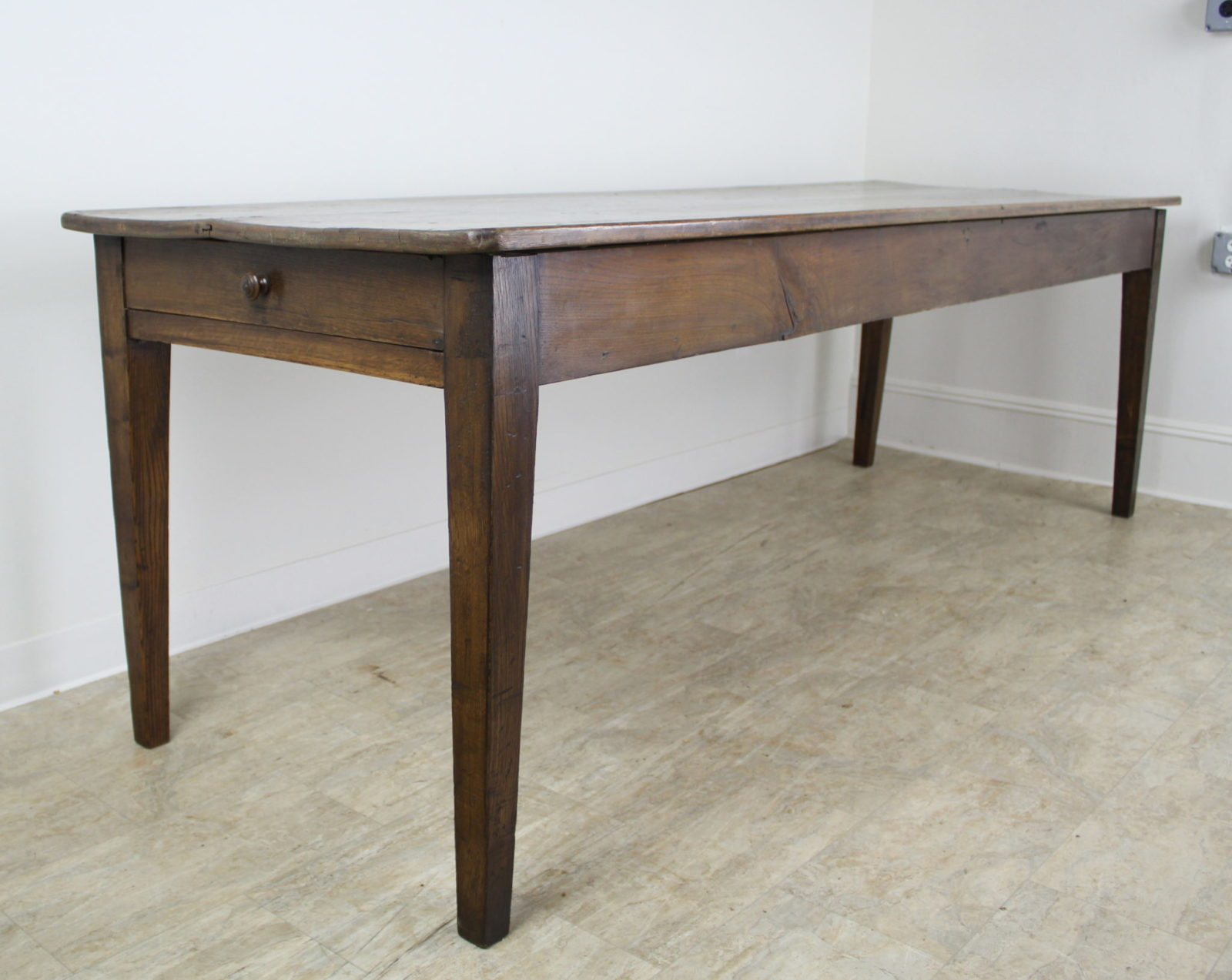 Long Antique Pine Farm Table One Drawer Briggs House Antiques