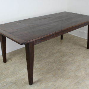 Dark Pine Farm Table with Breadboard Ends
