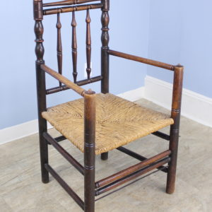 Antique English Oak Carver's Chair