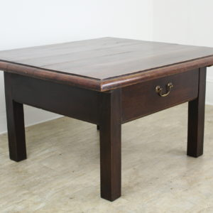 Antique Elm Coffee Table with a Floating Top