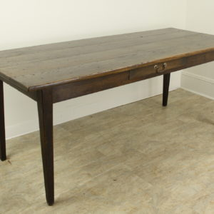 Antique French Dark Oak Farm Table