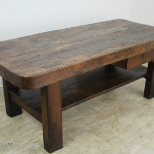 Thick Top Antique Burr Elm Coffee Table