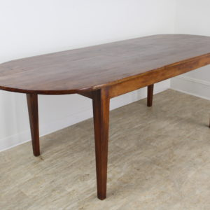 "Antique Cherry ""D-Ended"" Farm Table"