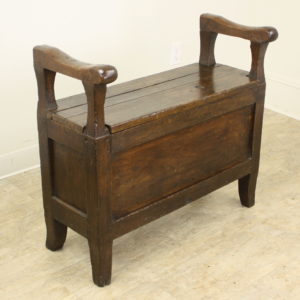 Small French Antique Chestnut Seat