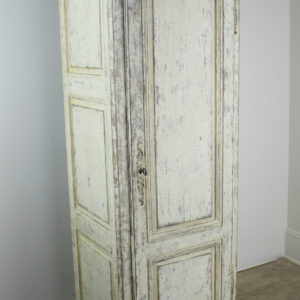 Narrow Antique Painted Chimney Cupboard in Oak *August's Deal*