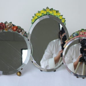 Collection of Vintage English Barbola Mirrors