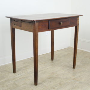 Antique Walnut Side Table with Side Extensions