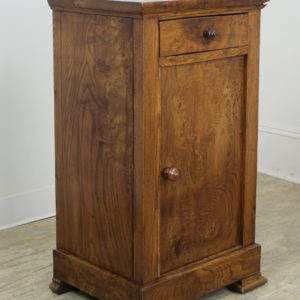 Antique French Burr Elm Side Cabinet