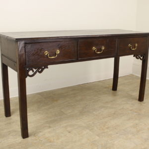 Antique Chippendale Style Oak Server with Fretted Detail