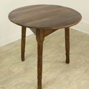 Antique Welsh Pine Cricket Table with Turned Legs