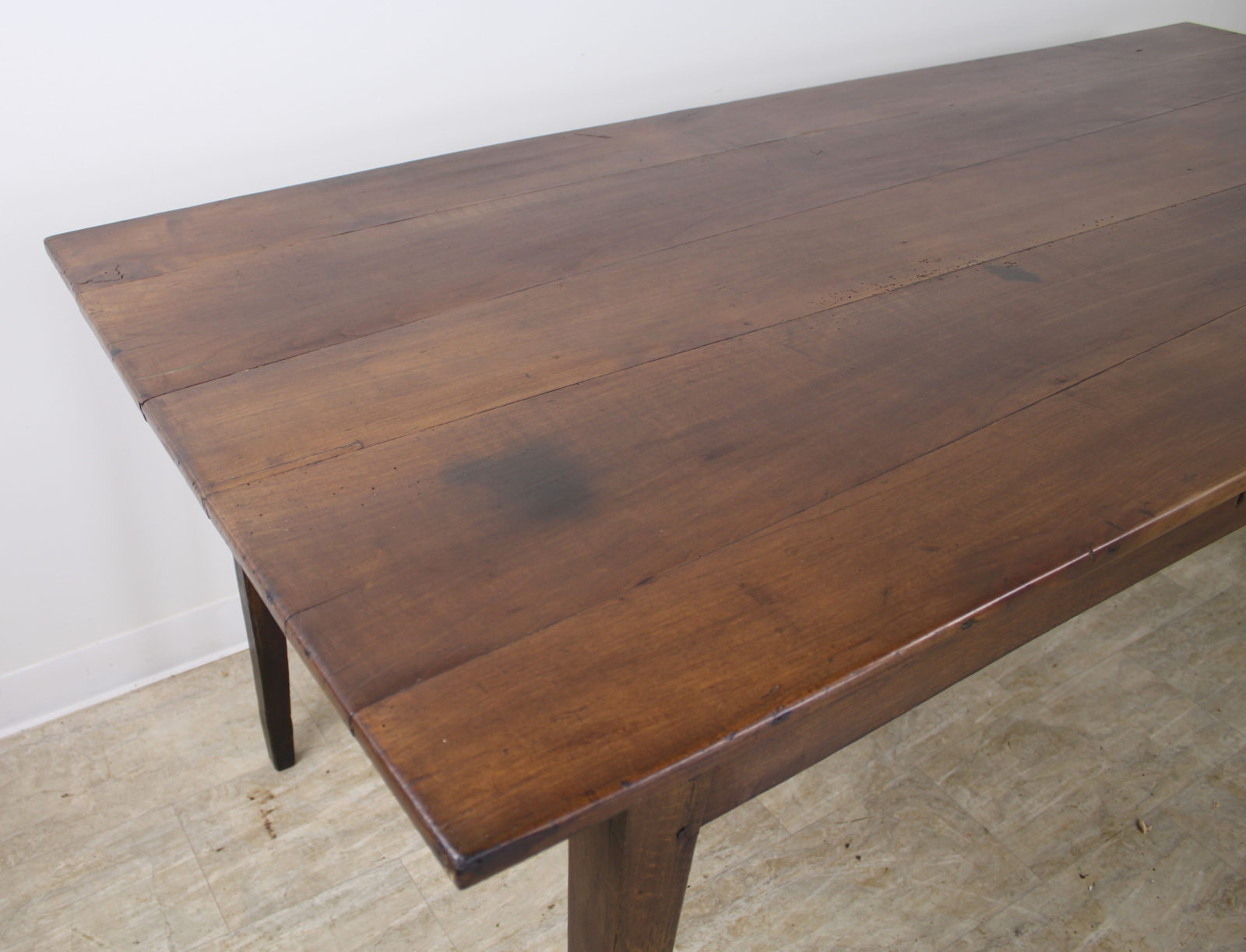 Antique Wide Cherry Farm Table With One Drawer Briggs