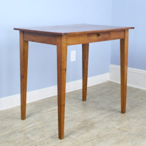 Antique French Fruitwood Side Table, Breadboard Ends