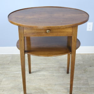 French Oval Walnut Side Table