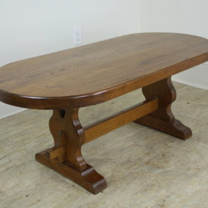 Thick Top Arts & Crafts Oval Oak Coffee Table