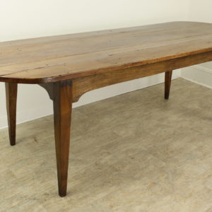 Antique French Applewood D-End Farm Table