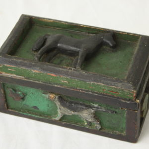 Antique Swedish Box Carved with Animals