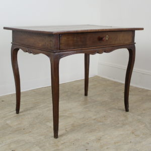 Louis XV Oak Side Table with Framed Top