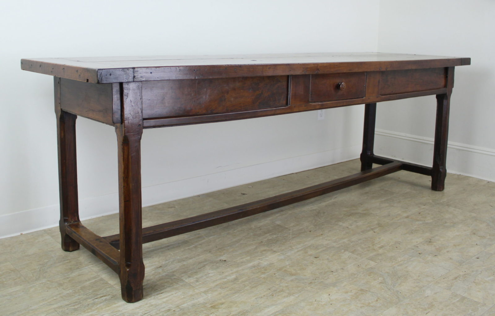 Large Antique French Fruitwood Server Or Work Table