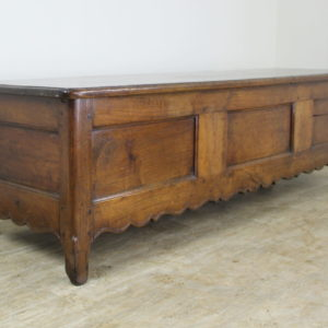 Fancifully Carved Louis XV Chestnut Coffer
