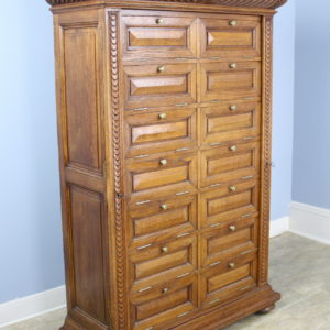 Antique Oak Cabinet with Side Locks and Original Keys
