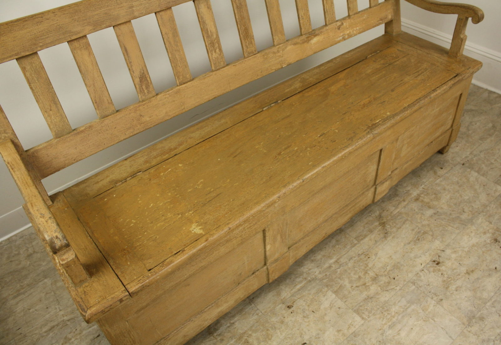 Antique Painted Mixed Wood Settle Briggs House Antiques