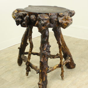 Antique Swedish Side Table, from Branches and Burrs