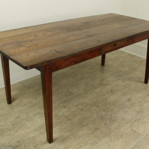 Antique French Farm Table, Chestnut Top and Cherry Base