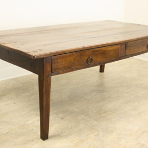 Antique French Two-Drawer Cherry Coffee Table