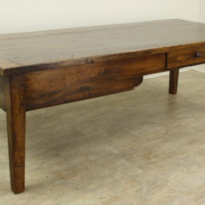 Antique Walnut Coffee Table with Two Drawers