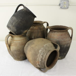 Collection of Five Antique Romanian Cooking Vessels