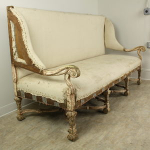 Dramatic Antique Long Italian Sofa
