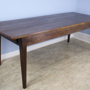 Long Chestnut Farm Table, Custom Made for Briggs House