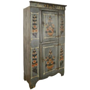 Antique French Alsacian Painted Armoire, 1814