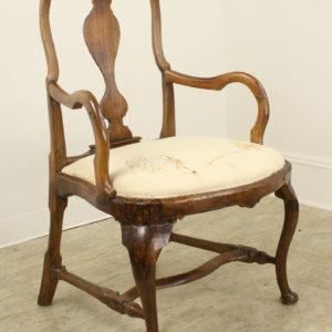 Antique Swedish Rococo Armchair, Original Patina