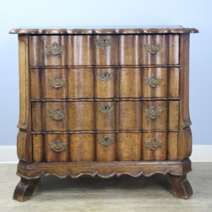 Period 18th Century Dutch Chest/Commode, Serpentine Drawers