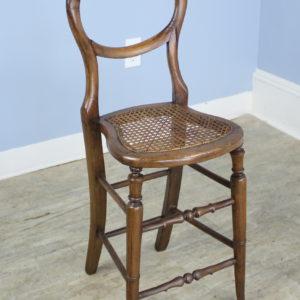 "Victorian Oak ""Child's ""Correction"" Chair"