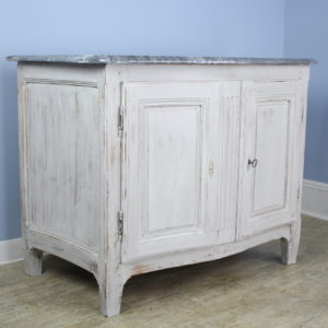 Antique Marble Top Buffet, Newly Painted